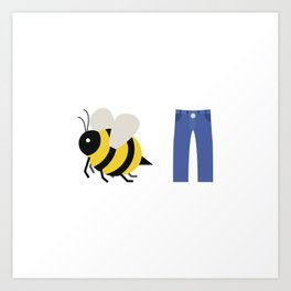 Bee Pants Art Print