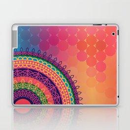 Ethnic Mandala on geometric pattern Laptop & iPad Skin