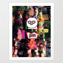 flower market bear Art Print