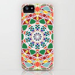Abstract star mandala iPhone Case