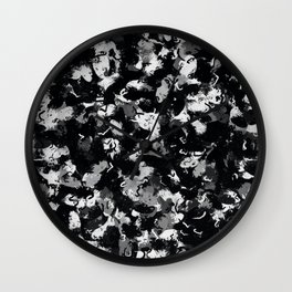 Shades of Gray and Black Oils #1979 Wall Clock