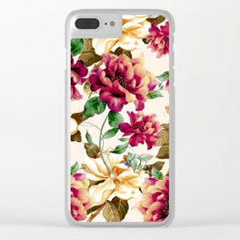 Vintage flowers1 Clear iPhone Case