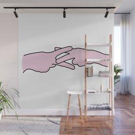 Scissoring Hands Wall Mural
