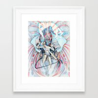 maori Framed Art Prints featuring Maori Stingray by Alex Bayliss