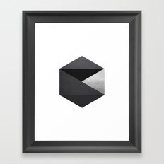 Stone Hex Framed Art Print