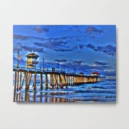 The Huntington Beach Pier Metal Print
