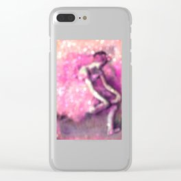 Degas The Dancer Pink Bokeh Sparkle Clear iPhone Case