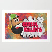 studio killers Art Prints featuring Cereal Killers by Roots