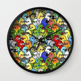 Too Many Birds! - Cockatiel Wall Clock