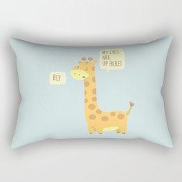 Giraffe problems! - Baby Blue version Rectangular Pillow