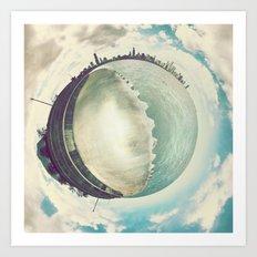 Tiny Planet Chicago Art Print
