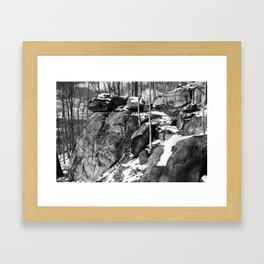A winter hike in Athens Framed Art Print