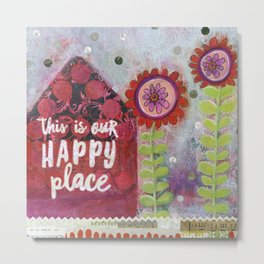 This is Our Happy Place Collage Metal Print