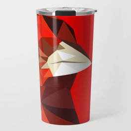Cardinal bird Geometric bird art Red Nature Travel Mug