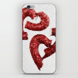 Broken Heart Mosaic iPhone Skin