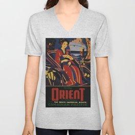 Vintage poster - Orient Unisex V-Neck
