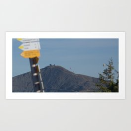 Hiking in the sky Art Print