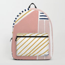 Gold and Pink Lines Backpack