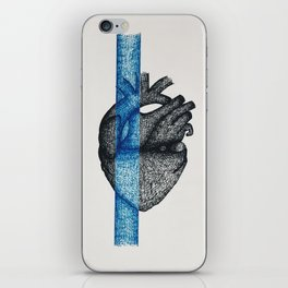 Color Blocked, Blue iPhone Skin