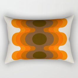 Echoes - Golden Rectangular Pillow