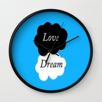 the fault in our stars Wall Clocks featuring The Fault In Our Stars by Mikayla Korey Photography