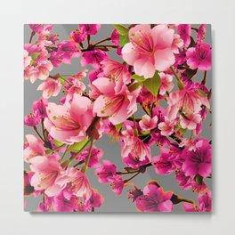 PURPLE ACCENTS PINK  GARDEN  FRUIT TREES FLOWERS Metal Print