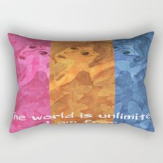 The world is umlimited. I am free... Rectangular Pillow