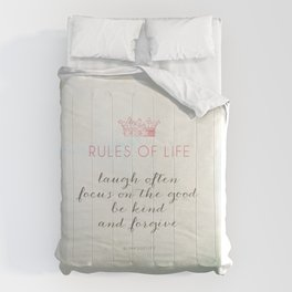 Rules of Life Comforters