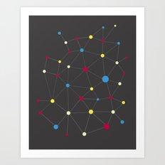 Molecules Art Print