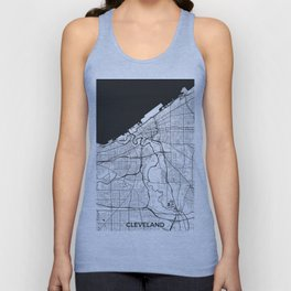 Cleveland Map Gray Unisex Tank Top