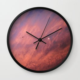 When a sunset meets the moon Wall Clock
