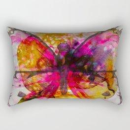 Vivid Butterfly Rectangular Pillow