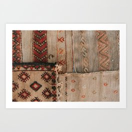 Maroccan rugs | Travel photo print of authentic Morocco rugs Art Print