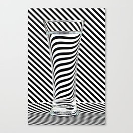 Striped Water Canvas Print