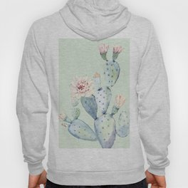 Prettiest Mint Cactus Rose Hoody