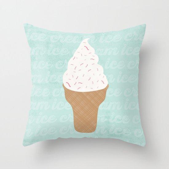 Ice Cream Throw Pillows : ICE CREAM CONE Throw Pillow by Allyson Johnson Society6