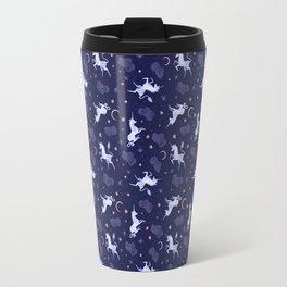 Unicorn Dreams Blue Travel Mug