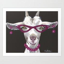 Goat Painting, Unique Farm Animal Art Print