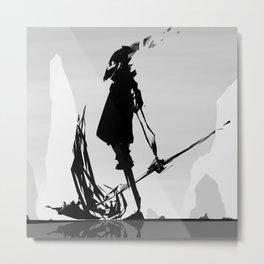 Tin Can Reaper Metal Print