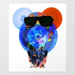 Pink Floyd Bear Face Art Print
