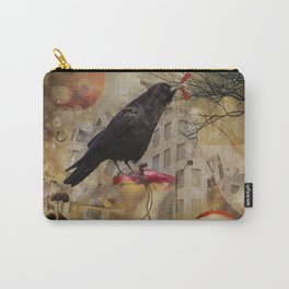 Raven in a City Carry-All Pouch