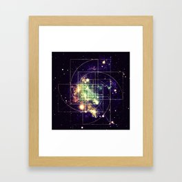Galaxy Sacred Geometry: Golden mean Framed Art Print