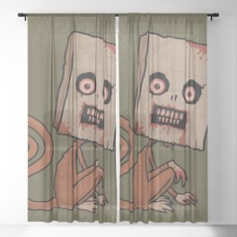 Psycho Sack Monkey Sheer Curtain