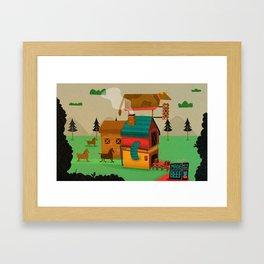 Horse Beef Framed Art Print