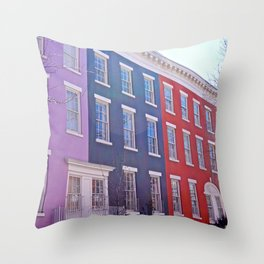 Colourful Streets Greenwich Village, NYC Throw Pillow