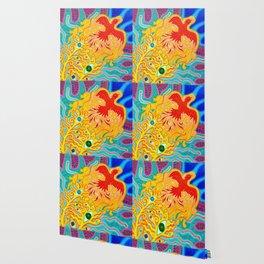 Fire Bird Painting Wallpaper