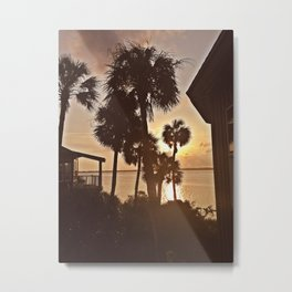 Palm Tree Silhouettes  Metal Print