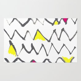 Zig Zag red yellow Rug