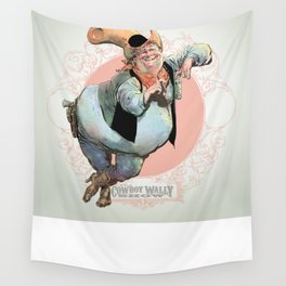 Cowboy Wally Lean Wall Tapestry