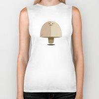mushroom Biker Tanks featuring Mushroom by Mister Linus